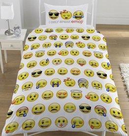 Emoji - Dekbedovertrek - Eenpersoons - 140 x 200 cm - Wit
