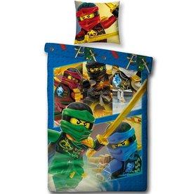 Lego Ninjago Lego Ninjago Dekbedovertrek 140x200cm + kussensloop 63x63cm