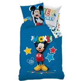 Disne3 Micke3 Mouse Stor3 - Dekbedovertrek - Eenpersoons - 140 x 200 cm - Blauw