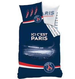 Paris Saint Germain Paris Saint Germain  Dekbedovertrek  Parc des Princes 140x200 cm + kussesnloop  63x63cm