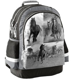 Animal Pictures Animal Pictures  Rugzak paarden grijs 42x29x17cm - polyester