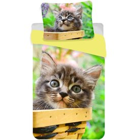 Animal Pictures Animal Pictures Dekbedovertrek Poesje 140 x 200cm + kussensloop 70 x 90cm
