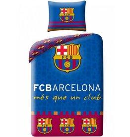 FC Barcelona Logo's - Dekbedovertrek - Eenpersoons - 140 x 200 cm - Multi