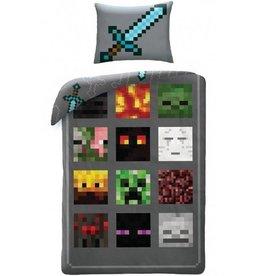 Minecraft Minecraft Dekbedovertrek Monsters 140 x 200cm + 1 kussensloop 70 x 90cm