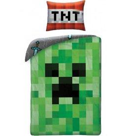 Minecraft Creeper - Dekbedovertrek - Eenpersoons - 140 x 200 cm - Groen