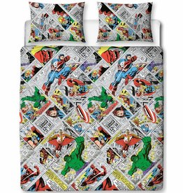 Marvel Comics Retro - Dekbedovertrek - Tweepersoons - 200 x 200 cm - Multi