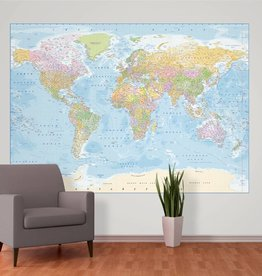 Maps Fotobehang World Map 232 x 158 cm