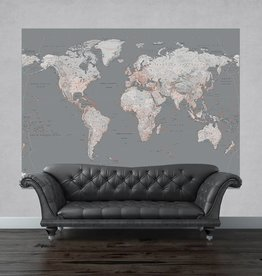 Maps Silvermap small 232cmx158cm