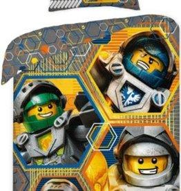 Lego Lego Dekbedovertrek Nexo Knights Hero 140x200cm + Kussensloop 70x90cm