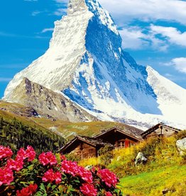 Fotobehang Matterhorn - 183 x 254 cm - Multi