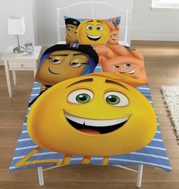 Emoji Emoji Dekbedovertrek  The Movie 135 x 200cm + kussensloop 50 x 75cm