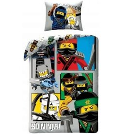 Lego Lego Ninjago Dekbedovertrek So Ninja! 140x200cm + Kussensloop 70x90cm