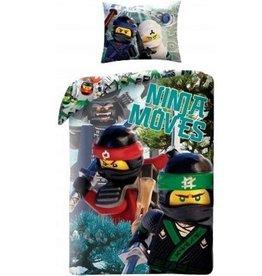 Lego Lego  Ninjago Dekbedovertrek Ninja Movies 140x200cm  + Kussensloop 70x90cm