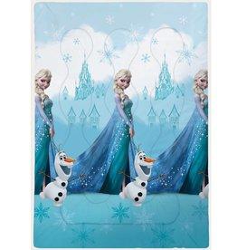 Disne3 Frozen Castle - Beddensprei - Eenpersoons - 140 x 200 cm - Blauw