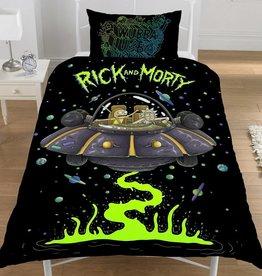 Rick & Morty Rick & Morty Dekbedovertrek Ufo Spaceship 135 x 200cm + Kussensloop 50 x 75cm