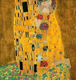 Klimt - De Kus - Fotobehang - 183 x 254 cm - Multi