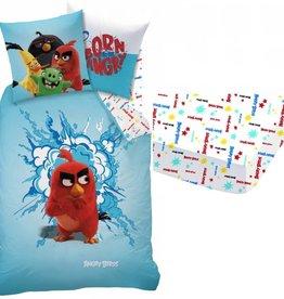 Angry Birds Angry Birds Dekbedovertrek-set 140x200cm + Hoeslaken - 100% katoen