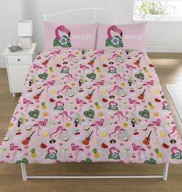 Emoji Emoji Dekbedovertrek Flamingo 200 x 200 cm + 2 Kussenslopen 50 x 75 cm