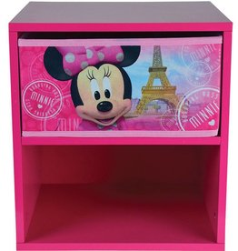 Disne3 Minnie Mouse - Nachtkastje met laadje - 36 x 33 x 30 cm - Roze