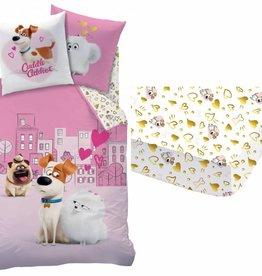 The Secret Life of Pets Set dekbed + hoeslaken Love 140x200 + 63x63cm 100% katoen
