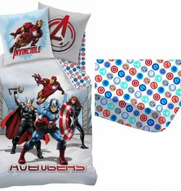 Avengers Cit3 - Dekbedovertrek - Eenpersoons - 140 x 200 cm - Multi - Inclusief Hoeslaken