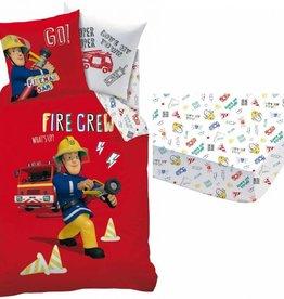 Brandweerman Sam Set Dekbed + Hoeslaken Fire Crew 1 persoons