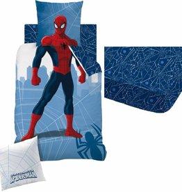Spiderman Manhattan - Dekbedovertrek - Eenpersoons - 140 x 200 cm - Multi - Inclusief Hoeslaken