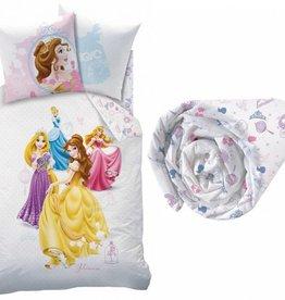 Disne3 Princess Dream Big - Dekbedovertrek - Eenpersoons - 140 x 200 cm - Multi - Inclusief hoeslaken
