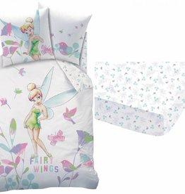 Disney Fairies Tinkerbell Disney Fairies Tinkerbell  Dekbedovertrek-set Wings 140 x 200cm + Hoeslaken Wings