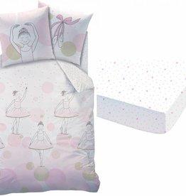 Matt & Rose Matt & Rose Ballerine Dekbedovertrek-set Pink 140x200cm + kussensloop 63x63cm + hoeslaken 90x200c