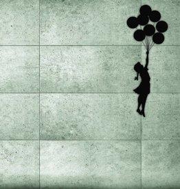 Banks3 fotobehang Meisje met balon 232 x 315 cm