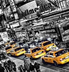Fotobehang Cabs Queue 366x254 cm