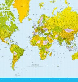 Fotobehang Map of the World 366x254 cm