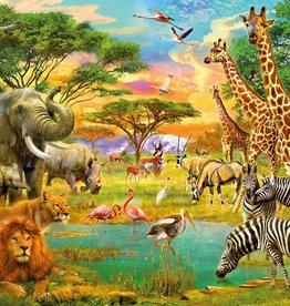 Fotobehang African Animals 366x254 cm
