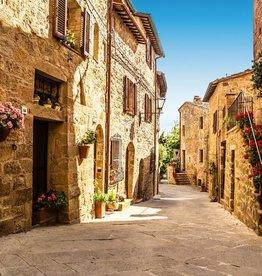 Fotobehang Tuscany Village 366x254 cm