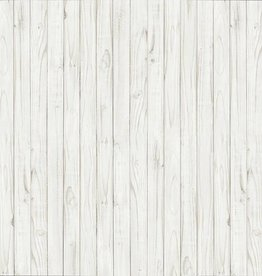 Fotobehang White Wooden Wall 366x254 cm