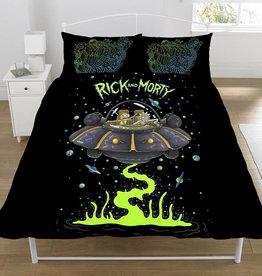 Rick & Morty Rick & Morty Dekbedovertrek Ufo Spaceship 200 x 200 cm + 2 kussenslopen 50 x 75 cm