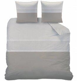 Matt & Rose Esprit Domino - Dekbedovertrek - Lits Jumeaux - 240 x 220 cm - Taupe - Inclusief 2 Kussenslopen