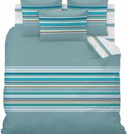 "Matt & Rose Set Dekbedovertek + 2 slopen Esprit graphique Blue ""orage"" 240x220 + 2st 65x65cm"