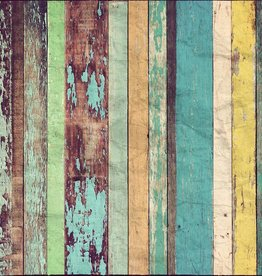 Fotobehang Fotobehang Colored Wooden Wall 366 x 254cm