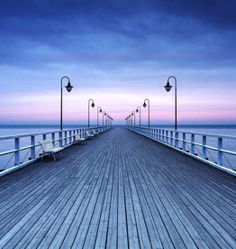 Fotobehang - Pier at the Seaside - 366 x 254 cm - Multi
