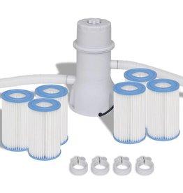 VidaXL Filterpomp met 7-delige filter set voor 1000 gal/h