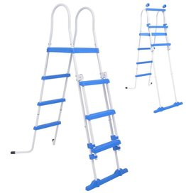 VidaXL Zwembadladder met 3 treden voor bovengrondse zwembaden 122 cm