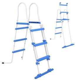 VidaXL Zwembadladder met 3 treden voor bovengrondse zwembaden 107 cm