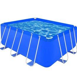 VidaXL Opbouwzwembad met stalen frame 400 x 207 x 122 cm rechthoekig
