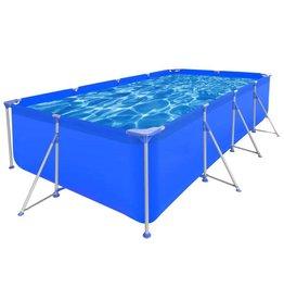 VidaXL Opbouw zwembad met stalen frame 394 x 207 x 80 cm rechthoekig