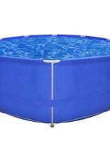 VidaXL Opbouwzwembad met stalen frame 367 x 122 cm rond