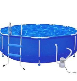 VidaXL Rond zwembad met trap en filterpomp 360 x 76 cm