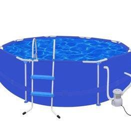 VidaXL Zwembad rond 300 cm met ladder filterpomp 300 gal/h