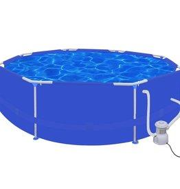 VidaXL Zwembad rond 300 cm met filterpomp 300 gal / h (90537+90560)